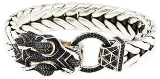 John Hardy Black Sapphire Legends Naga Dragon Head Bracelet