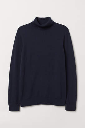 H&M Knit Turtleneck Sweater - Blue