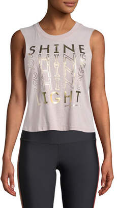 Spiritual Gangster Shine Cropped Graphic Activewear Tank