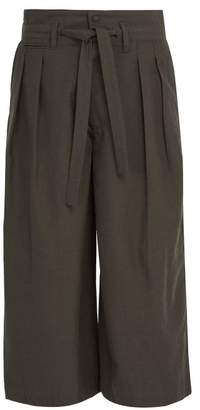 SASQUATCHfabrix. Hakama Wool And Silk Blend Trousers - Mens - Charcoal