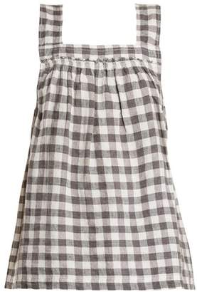 Lee Mathews - Edith Gingham Linen Top - Womens - Grey White