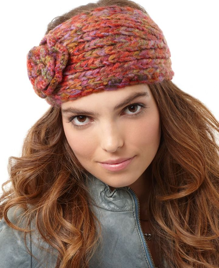 David & Young Hat, Knit Flower Headband
