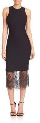 Hestia Lace Hem Midi Dress