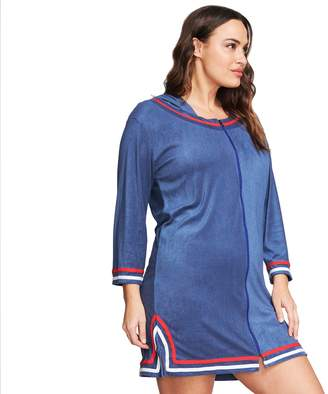 Women's Mazu Swim Plus Size Hooded Terry Cloth Cover Up