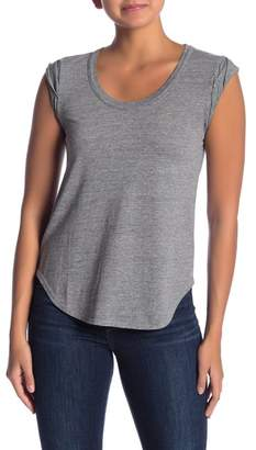 Chaser Roll Sleeve Scoop Neck Top