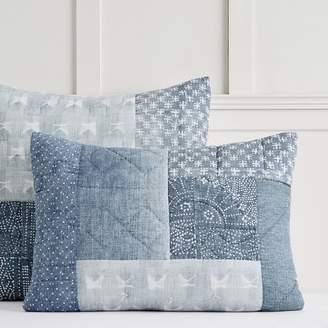 Pottery Barn Teen Lily Ashwell Denim Patchwork Quilt, Standard, Blue Multi