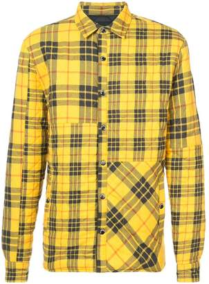 Mostly Heard Rarely Seen quilted plaid shirt jacket