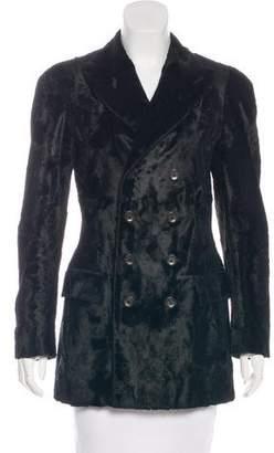 Jean Paul Gaultier Faux Fur Double-Breasted Blazer