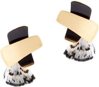 Lizzie Fortunato X Top Feather Earrings
