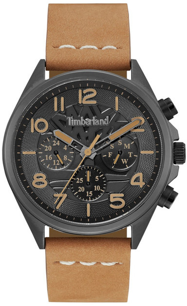 Timberland Timberland Men&s Bartlett II Multifunction Leather Strap Watch