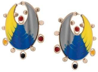Missoni moon-shaped drop earrings