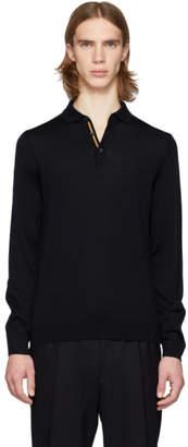 BOSS Navy Merino Wool Polo
