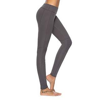 Mint Lilac Women's High Waist Full-Length Leggings Athletic Workout Pant with Mesh Panelss