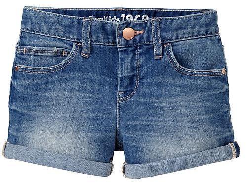Gap Denim shortie shorts (medium wash)