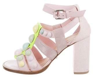 Markus Lupfer Embellished High-Heel Sandals