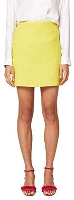 Esprit Women's 048eo1d004 Skirt, (Yellow 750), (Size: 44)