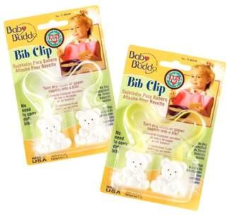 Baby Buddy Bib Clip 2ct for 0-36 Months (Yellow/White)