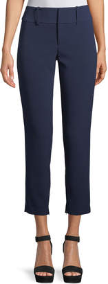 Alice + Olivia Stacey Slim Straight-Leg Ankle Pant