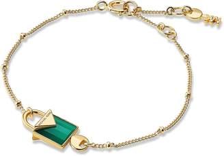 Michael Kors Mercer 14K Gold Plated Sterling Silver Lock Bracelet