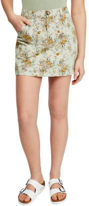 BDG Urban Outfitters Floral Twill Carpenter Miniskirt