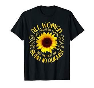 Best Women Born In August Sunflower T-Shirt Girls