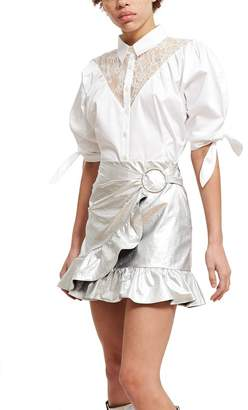 Opening Ceremony Sateen Lace Button-Down Shirt