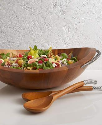 Nambe Braid Salad Bowl with Servers