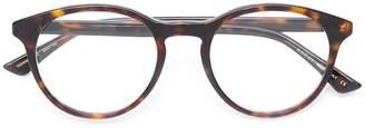 Gucci round frame tortoiseshell glasses