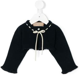 La Stupenderia knit tied cropped jumper