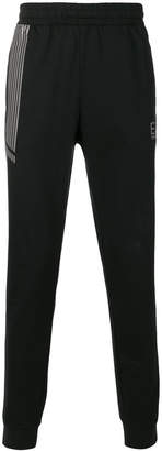 Emporio Armani Ea7 stripe detail tapered tracksuit bottoms