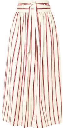 Vanessa Bruno - Ieba Striped Cotton-gauze Midi Skirt - Red