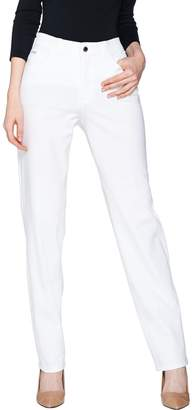 Halston H By H by Petite Studio Stretch 5- Pocket Straight Leg Pants