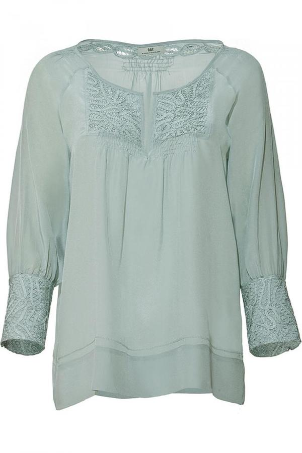 Day Birger et Mikkelsen Menthe Embroidered Silk Tunic-Top