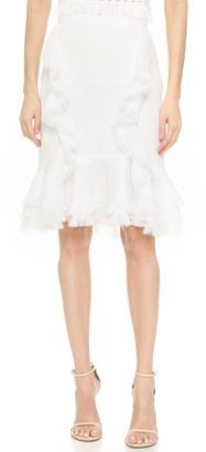 Jason Wu Textured Gauze Bias Ruffle Skirt $1,595 thestylecure.com
