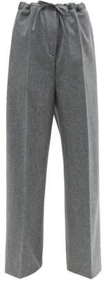 Jil Sander Felted Wool Blend Trousers - Womens - Grey