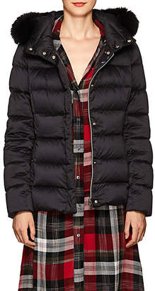 Herno Women's Fox-Fur-Trimmed Down-Quilted Jacket - Black