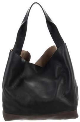 Marni Leather Colorblock Tote Black Leather Colorblock Tote