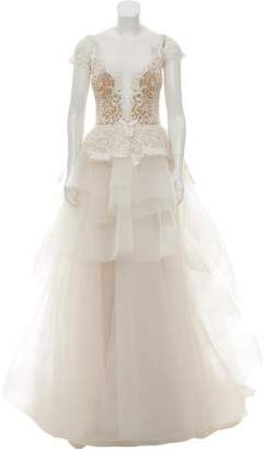 Reem Acra Embellished Wedding Gown