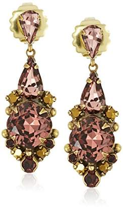 Sorrelli Mirage Cube Crystal Statement Earrings