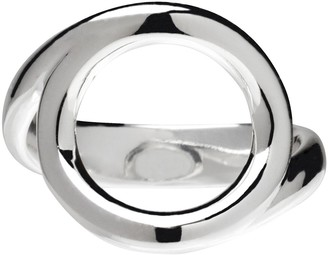 Ultrafine UltraFine Silver Polished Open Circle Ring