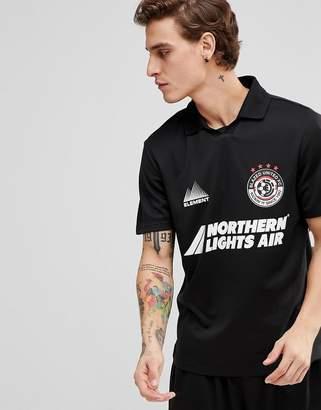 Element retro soccer t-shirt in black