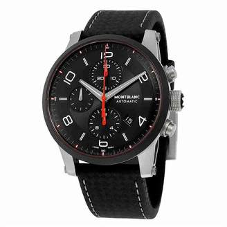 Montblanc Mont Blanc Women's 43mm Leather Band Ceramic Case Automatic Watch 112604