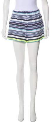 Lemlem High-Rise Striped Shorts