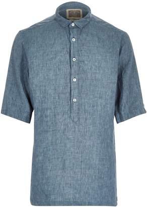 River Island Mens Green Holloway Road linen shirt