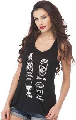 "Hollywood Star Fashion Sleeveless Tank Top Graphic Tee'S ""Coffee ascara"" (ediu, Black)"