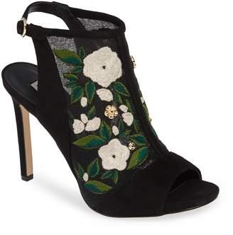 Karl Lagerfeld PARIS Karter Embroidered Sandal