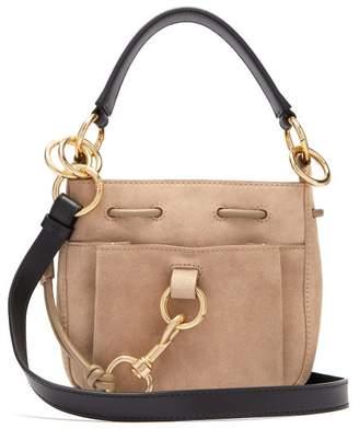 See by Chloe Tony Medium Suede Bucket Bag - Womens - Grey