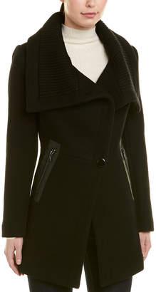 Trina Turk Wool-Blend Wrap Coat