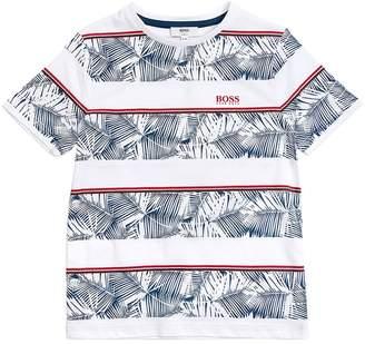 HUGO BOSS Striped Hawaiian Cotton Jersey T-Shirt