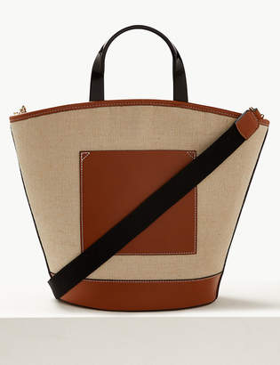 M&S CollectionMarks and Spencer Colour Block Shopper Bag